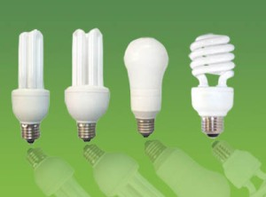 green cleaning compact fluorescent light bulbs